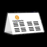 Calendario de sobremesa semestrales modelo (L10)