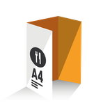 Carta Menú tríptico tamaño A4