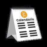 Calendario de sobremesa encuadernado en whire. (CW307).