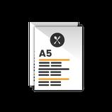 Carta Menú formato tamaño A5. 21 x 15 cm.