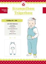 Strampelhose/Trägerhose, Klimperklein, Papierschnittmuster, versandkostenfrei
