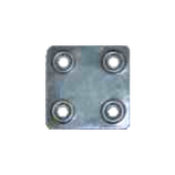 Пластина крепежная ПК 40*40*1,2 цинк