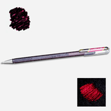 Stylo gel pailleté black metallic red - Pentel