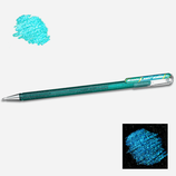 Stylo gel pailleté green metallic blue - Pentel