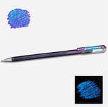 Stylo gel pailleté violet metallic blue - Pentel