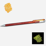 Stylo gel pailleté orange metallic yellow - Pentel