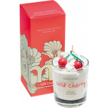 bomb cosmetics Flower Wild Cherry Glass Candle