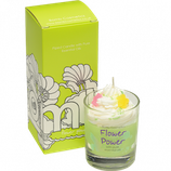 bomb cosmetics Flower Power piped Glass Candle
