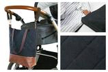 Wickeltasche / Kinderwagentasche: Schwarz