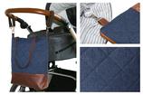 Wickeltasche / Kinderwagentasche: Blau