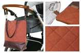 Wickeltasche / Kinderwagentasche: Orange