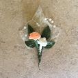 """Hochzeitsanstecker """" Perldrahtherz apricot"""""""