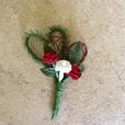 """Hochzeitsanstecker """"Doppelherz rote Rosen"""""""
