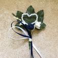 """Hochzeitsanstecker """"dunkelblau"""""""