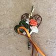 """Hochzeitsanstecker """"orange - braun"""""""