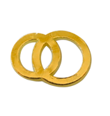 Wachsringe gold 24x16mm