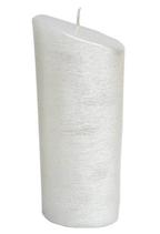 Kerze oval 23x9cm Perlmutt