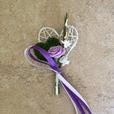 """Hochzeitsanstecker """"violett"""""""
