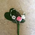 """Hochzeitsanstecker """"Doppelherz rosa"""""""