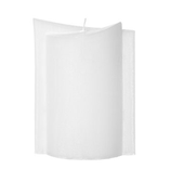 Kerzenrohling Ellipse 20x13 aus Stearinwachs