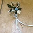 """Hochzeitsanstecker """"hellblau"""""""