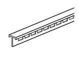 Lochleiste für Plakatschiene II und III