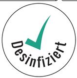 Desinfiziert-Etikett rund