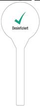 Siegel-Etikett desinfiziert (10.000 Stück)
