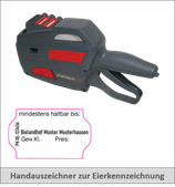 Starterset L2: 1 Handauszeichner + 30 Rollen Etiketten