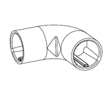 Eck-Verbinder QP-Schiene 90°