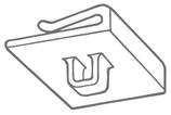 Deckenclip mit Öse