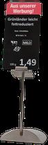 Preisschildhalter aus Edelstahl, Länge 150 mm (1 VE = 25 Stück)