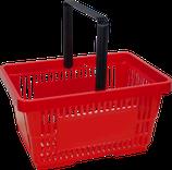 Einkaufskorb rot, 1-Arm