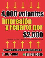 IMPRESION Y REPARTO DE 4 MIL VOLANTES