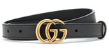 Gucci Ledergürtel mit GG Schnalle in Schwarz