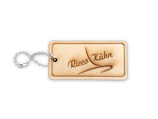wooden `Ricco Kühn` key ring