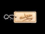 Adressanhänger `Ricco Kühn` aus Holz