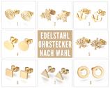 Edelstahl Ohrstecker vergoldet