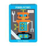 Pixel AUSMALBUCH Retro Robots - mudpuppy