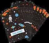 Einladungskarten-Set WELTRAUM- ava&yves