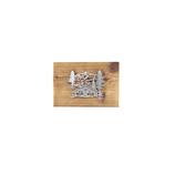 Chromstahlbild Maiensäss auf Altholz
