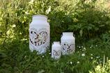 Milchkanne mit Herz mittel, weiss Ø16x29cm