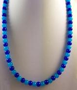 Aquablau : Achatperlen