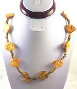 Muschelkette mit Bronzeperlen
