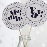 DIY Party Printable in Schwarz-Weiss