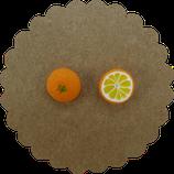 Orangen Ohrstecker 001