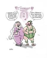 """Cartoon """"Schwule Bayern"""" von Rudi Hurzlmeier"""