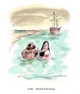 """Cartoon """"Piratenpaar"""" von Rudi Hurzlmeier"""