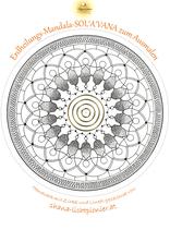 Erdheilungs-Mandala SOL'A'VANA zum Ausmalen (Postversand)