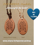 """ANA'ANARAA - Amulette (in der """"Vesica Piscis Form"""" oder """"Oval"""""""